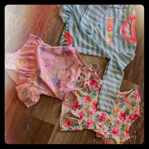 4/5t girls swimsuit lot